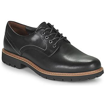 Παπούτσια Άνδρας Derby Clarks BATCOMBE HALL Black