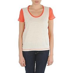 Υφασμάτινα Γυναίκα T-shirt με κοντά μανίκια Eleven Paris EDMEE Beige / Orange