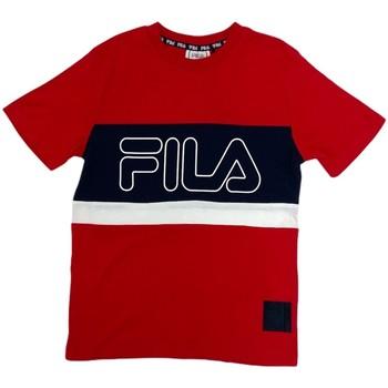 Υφασμάτινα Παιδί T-shirt με κοντά μανίκια Fila 688138 το κόκκινο