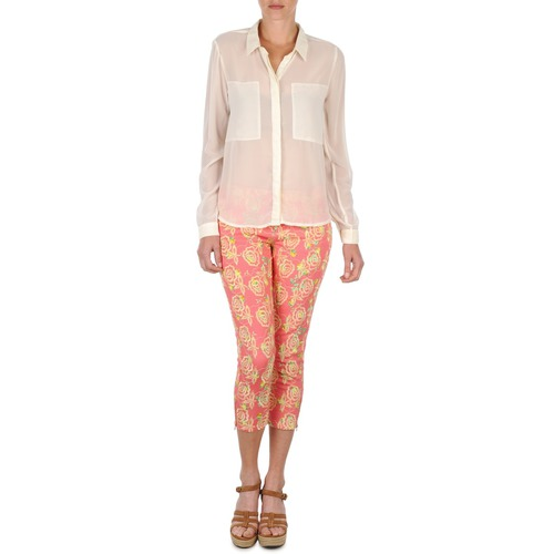 Υφασμάτινα Γυναίκα Κοντά παντελόνια Manoush PANTALON GIPSY JEANS Ροζ