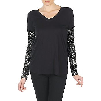 Υφασμάτινα Γυναίκα Μπλουζάκια με μακριά μανίκια Manoush TSHIRT ML INDIAN BASIC Black