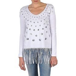 Υφασμάτινα Γυναίκα Μπλουζάκια με μακριά μανίκια Manoush TUNIQUE LIANE άσπρο