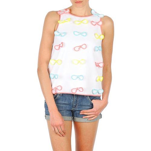 Υφασμάτινα Γυναίκα Αμάνικα / T-shirts χωρίς μανίκια Manoush TOP NOEUD NOEUD Άσπρο
