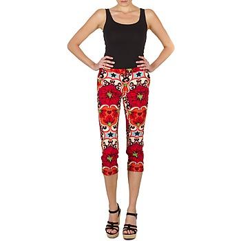 Υφασμάτινα Γυναίκα Κοντά παντελόνια Manoush PANTALON POPPY Red