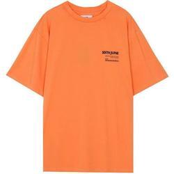 Υφασμάτινα Άνδρας T-shirt με κοντά μανίκια Sixth June T-shirt  barcode orange