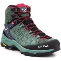 Παπούτσια Γυναίκα Πεζοπορίας Salewa WS Alp Trainer 2 Mid GTX 61383-5085 olive green