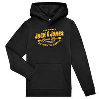 Υφασμάτινα Αγόρι Φούτερ Jack & Jones JJELOGO SWEAT HOOD Black