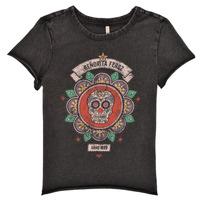 Υφασμάτινα Κορίτσι T-shirt με κοντά μανίκια Only KONLUCY Black