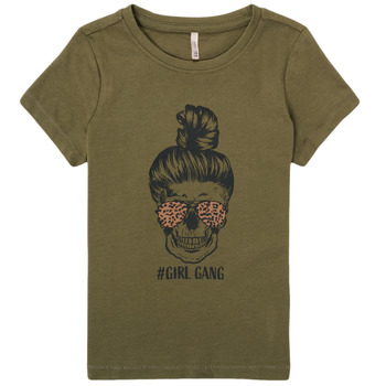 Υφασμάτινα Κορίτσι T-shirt με κοντά μανίκια Only KONKITA Kaki