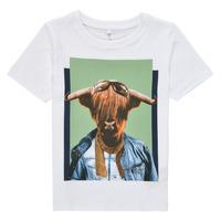 Υφασμάτινα Αγόρι T-shirt με κοντά μανίκια Name it NMMKYLAN SS TOP Άσπρο