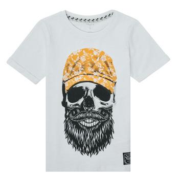 Υφασμάτινα Αγόρι T-shirt με κοντά μανίκια Name it NKMKSOYTAN SS TOP Άσπρο