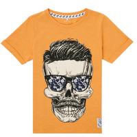 Υφασμάτινα Αγόρι T-shirt με κοντά μανίκια Name it NKMKSOYTAN SS TOP Yellow