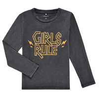 Υφασμάτινα Κορίτσι Μπλουζάκια με μακριά μανίκια Name it NKFNEBEL LS TOP Black