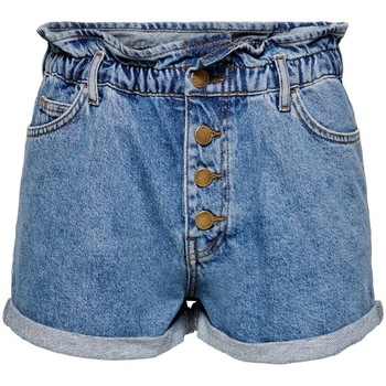 Shorts & Βερμούδες Only Short en jeans femme Cuba life paperbag [COMPOSITION_COMPLETE]