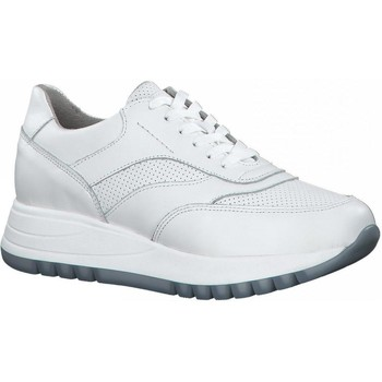 Xαμηλά Sneakers S.Oliver Wht Lea Lt Blu Casual Trainers [COMPOSITION_COMPLETE]