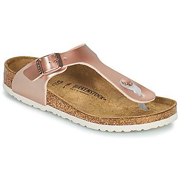 Παπούτσια Κορίτσι Σαγιονάρες Birkenstock GIZEH Ροζ / Gold