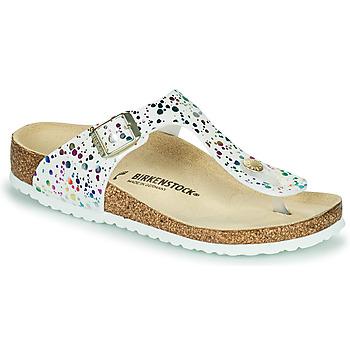 Παπούτσια Κορίτσι Σαγιονάρες Birkenstock GIZEH Άσπρο / Multicolour