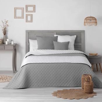 Σπίτι Κουβέρτες Douceur d intérieur MELLOW CHIC Grey / Άσπρο