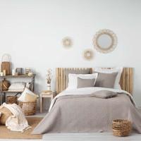 Σπίτι Κουβέρτες Douceur d intérieur FLORETTE Taupe