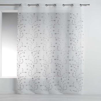 Σπίτι Κουρτίνες Douceur d intérieur PETITE FLEUR Άσπρο / Grey