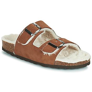 Παπούτσια Γυναίκα Παντόφλες Casual Attitude NEW Brown