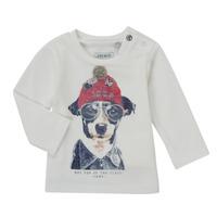 Υφασμάτινα Αγόρι Μπλουζάκια με μακριά μανίκια Ikks AUBERGINE Άσπρο