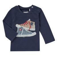 Υφασμάτινα Αγόρι Μπλουζάκια με μακριά μανίκια Ikks AURORE Marine