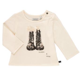 Υφασμάτινα Κορίτσι Μπλουζάκια με μακριά μανίκια Ikks PAON Άσπρο