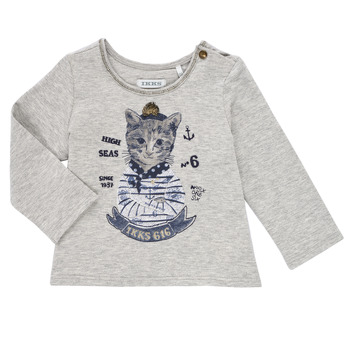 Υφασμάτινα Κορίτσι Μπλουζάκια με μακριά μανίκια Ikks PERSAN Grey