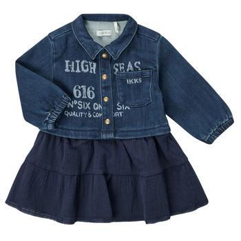 Υφασμάτινα Κορίτσι Κοντά Φορέματα Ikks CHATAIN Marine