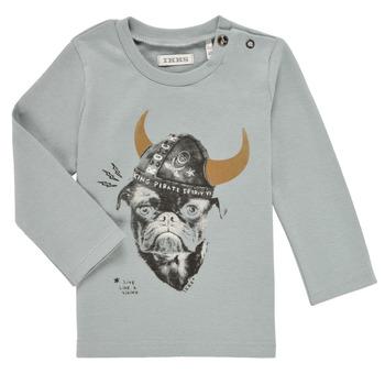 Υφασμάτινα Αγόρι Μπλουζάκια με μακριά μανίκια Ikks CHAUDRON Μπλέ