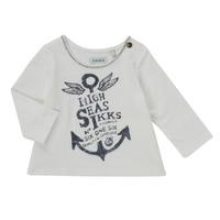 Υφασμάτινα Κορίτσι Μπλουζάκια με μακριά μανίκια Ikks CHOCOLAT Άσπρο