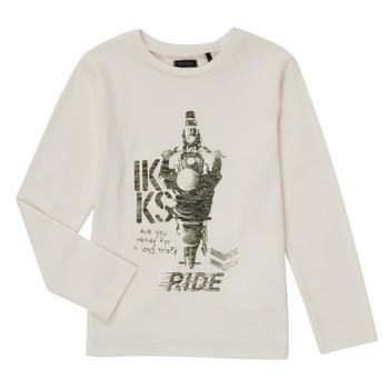 Υφασμάτινα Αγόρι Μπλουζάκια με μακριά μανίκια Ikks CERISE Άσπρο