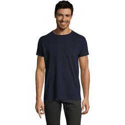 Υφασμάτινα Άνδρας T-shirt με κοντά μανίκια Sols Camiseta IMPERIAL FIT color French Marino Azul