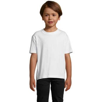 Υφασμάτινα Παιδί T-shirt με κοντά μανίκια Sols Camista infantil color blanco Blanco