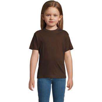 Υφασμάτινα Παιδί T-shirt με κοντά μανίκια Sols Camista infantil color chocolate Marrón