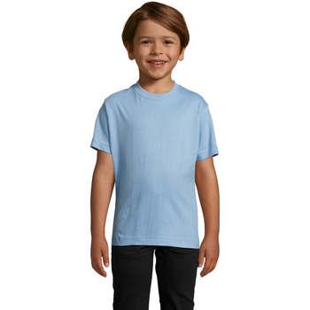 Υφασμάτινα Παιδί T-shirt με κοντά μανίκια Sols Camista infantil color Azul cielo Azul