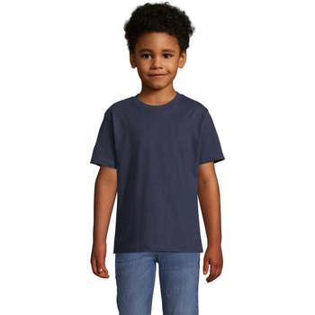 Υφασμάτινα Παιδί T-shirt με κοντά μανίκια Sols Camista infantil color French Marino Azul