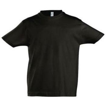 Υφασμάτινα Παιδί T-shirt με κοντά μανίκια Sols Camista infantil color Negro profundo Negro