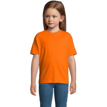 Υφασμάτινα Παιδί T-shirt με κοντά μανίκια Sols Camista infantil color Naranja Naranja
