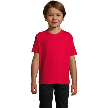 Υφασμάτινα Παιδί T-shirt με κοντά μανίκια Sols Camista infantil color Rojo Rojo