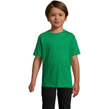 Υφασμάτινα Παιδί T-shirt με κοντά μανίκια Sols Camista infantil color Verde Pradera Verde