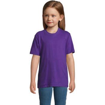 Υφασμάτινα Παιδί T-shirt με κοντά μανίκια Sols Camista infantil color Morado Violeta