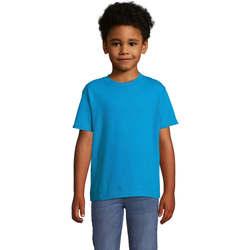 Υφασμάτινα Παιδί T-shirt με κοντά μανίκια Sols Camista infantil color Aqua Azul