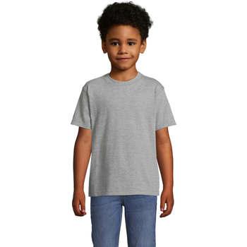 Υφασμάτινα Παιδί T-shirt με κοντά μανίκια Sols Camista infantil color Gris Gris