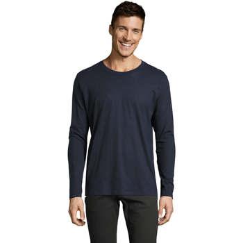 Υφασμάτινα Άνδρας Μπλουζάκια με μακριά μανίκια Sols Camiseta manga larga Azul