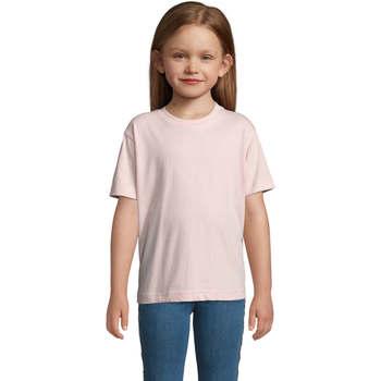 Υφασμάτινα Παιδί T-shirt με κοντά μανίκια Sols Camista infantil color Rosa médio Rosa