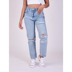 Υφασμάτινα Γυναίκα Boyfriend jeans Project X Paris  Μπλέ