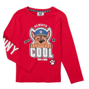 Υφασμάτινα Αγόρι Μπλουζάκια με μακριά μανίκια TEAM HEROES  TEE PAW PATROL Red