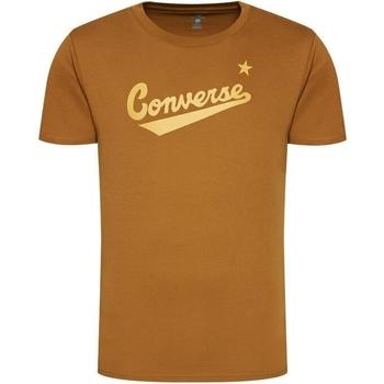 Υφασμάτινα Άνδρας T-shirt με κοντά μανίκια Converse Center Front Logo καφέ